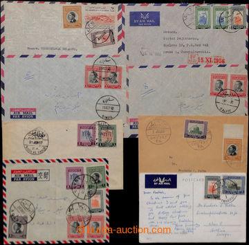 209391 - 1956-1960 sestava 8 let-dopisů mj. do Prahy a Vídně, z toho