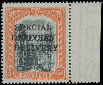 209408 - 1916 BAHAMY  SLUŽEBNÍ / SG.S1a, Queen Staircase 5P s DVOJITÝ