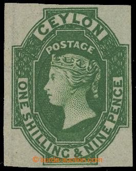 209410 - 1857 SG.11, Viktorie 1Sh9P zelená, krajová průsvitka; kr�