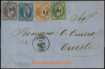 209418 - 1864 dopis s Mi.18-21, Hermes 5L-40L, na dopisu s raz. 31 GA