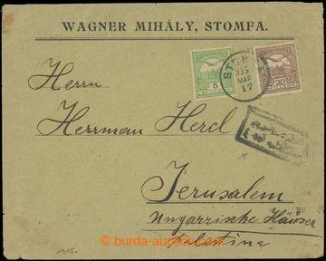 209469 - 1915 SLOVENSKO / firemní dopis zaslaný ze Slovenska (Stupava