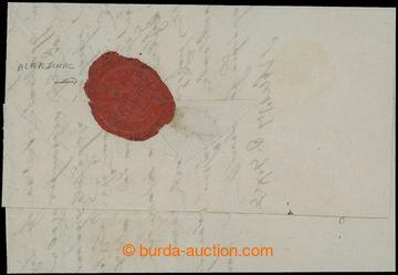209487 - 1856 CHOLEROVÝ DOPIS / skládaný dopis z Niše, na zadní stran