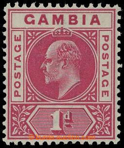 209549 - 1902 SG.46a, Edvard VII. 1P karmínová, CA, DENTED FRAME; bez