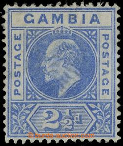 209550 - 1902 SG.48a, Edvard VII. 2½P ultramarínová, CA, DENTED