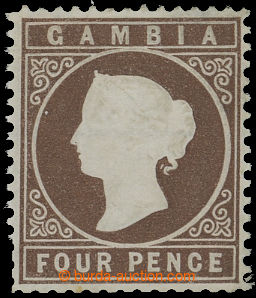 209560 - 1881 SG.16Aw, Victoria 4P brown, WMK LEFT TO THE CROWN CC; v