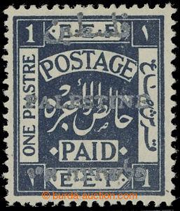 209567 - 1920 SG.35, 1P tmavě indigová se STŘÍBRNÝM PŘETISKEM Palesti