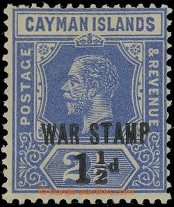 209571 - 1917 SG.55, Jiří V. 2½P tmavě modrá s přetiskem WAR STA