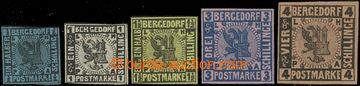 209575 - 1861 Mi.1-3(*), 4-5 *, Znak 1/2Sch-4Sc; zk. Roig, Bernichon,