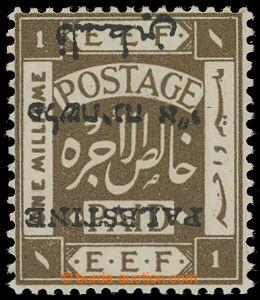 209595 - 1920 SG.30a, EEF londýnské přetiskové vydání PALESTINE 1P ol