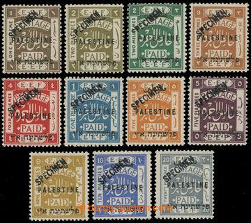 209596 - 1921 SG.60-70, EEF londýnské přetiskové vydání PALESTINE, ko