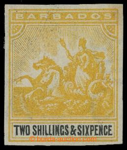 209599 - 1892 SG.115, Znak 2Sh6P, nezoubkovaný ZT ve žluté barvě na d