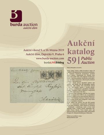 209600 - 2019 BURDA AUCTION s.r.o., catalogue dvoudenní Aukce 59, col