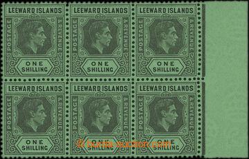 209623 - 1945 SG.110, Jiří VI. 1Sh černá / smaragdová, křídový papír,