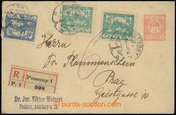 209659 - 1920 uherská celina Koruna 10f zaslaná jako R- do Prahy, dof