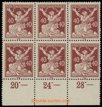 209678 -  Pof.154A ST, 40h hnědá, dolní krajový 6-blok s počítadly, H
