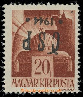 209685 - 1944 CHUSTSKÝ PŘETISK / Pof.RV184, Koruna 20f, přetisk převr