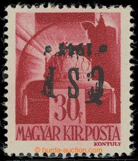 209686 - 1944 CHUSTSKÝ PŘETISK / Pof.RV186, Koruna 30f, přetisk převr