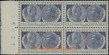 209702 - 1954 Pof.773 DO, Gottwald a Stalin 60h, krajový 4-blok s č