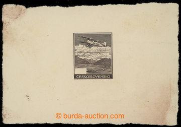 209758 - 1930 ZT  hodnoty 50h - otisk rytiny nepoužitého obrazu v tma