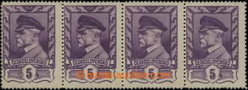 209783 - 1945 Pof.381, Moskevské 5h, vodorovná 4-páska z desky 4, tře