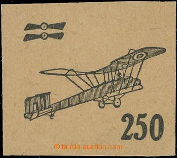 209905 -  ZT  přetisku 250h v černé barvě na nahnědlém kartonovém pap