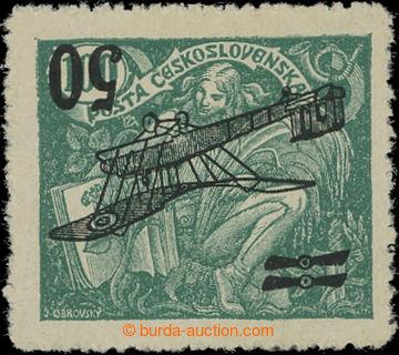 209907 -  Pof.L4Pp, II. letecké provizorium 50/100h zelená, PŘEVRÁCEN