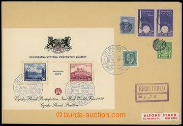 209928 - 1939 R-dopis s vylepeným propagačním aršíkem AS3, arš�
