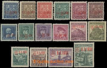 209988 - 1938 BAZOVSKÉHO PŘETISK  ZT kompletní (!) řada 16ks zkusmého