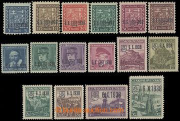 209993 - 1939 BAZOVSKÉHO PŘETISK  ZT kompletní (!) řada 16ks zkusmého