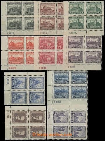 210013 - 1928 Pof.233-242, Jubilejní 30h - 5Kč ve 4-blocích; pěkn