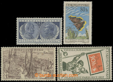210056 - 1954-1961 DESKOVÉ VADY/ sestava 4ks zn., Pof.773 s DV 2/1, P