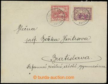 210061 - 1919 2x těžší dopis jako spěšný tiskopis zaslaný do Bratisla