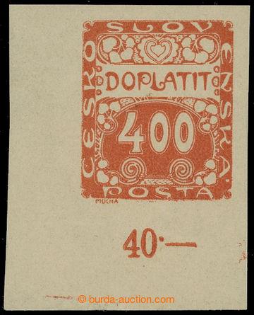 210099 - 1919 ZT  Pof.DL11, Ornament 400h, levý dolní rohový kus v