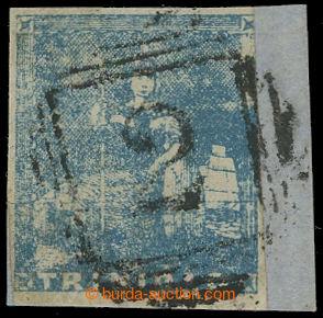 210106 - 1855 SG.15, Britannia 1P světle modrá, tzv. II. Petit Lithog