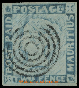 210111 - 1848-1859 SG.22, POST PAID TWO PENCE BLUE; bezvadný kus s c