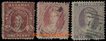 210113 - 1862 SG.17-19, Viktorie Chalon Head, 1P, 4P, 6P, bez průsvit