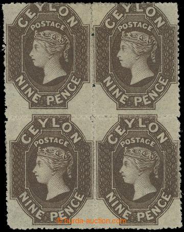 210125 - 1861-1864 SG.33, 4-blok Viktorie 9P tmavě hnědá zoubkování 1