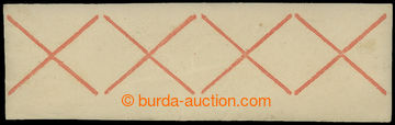 210138 - 1850 ONDŘEJSKÝ KŘÍŽ / 4-páska z archu 3Kr známek, če