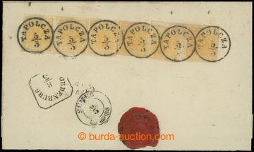 210144 - 1850 Ferch.1HIa, celá zadní strana R- dopisu s 6x Znak 1Kr o
