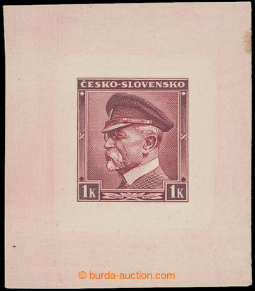 210216 - 1939 PLATE PROOF  values Masaryk 1 Koruna inscription ČESKO