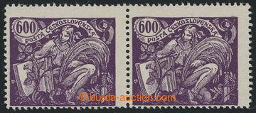 210237 -  Pof.169B, hodnota 600h tmavě fialová, vodorovná 2-páska s H