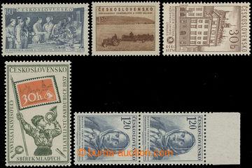 210238 - 1953-1959 DESKOVÉ VADY / Pof.730, 797, 803, 948, 1050, sesta