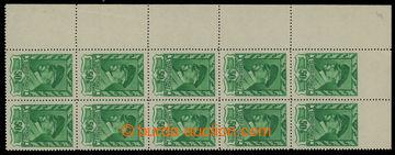 210327 - 1945 Pof.384 VV, Moskevské 50h, levý rohový svislý 10-pás s