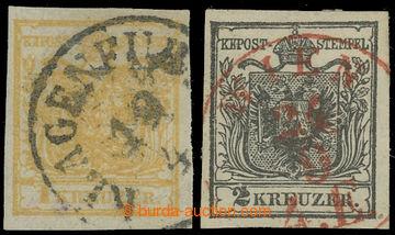210416 - 1850- Ferch.1HIb, 2HIa, Znak 1Kr žlutá, tisk i na zadní stra