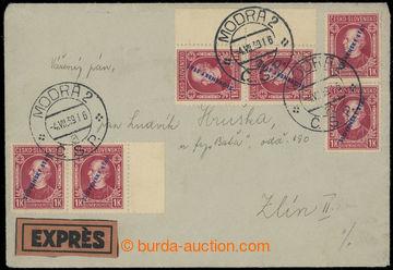 210454 - 1939 Ex-dopis se smíšenou frankaturou, vpředu slovenské zn.