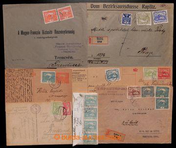 210476 - 1919-1920 sestava 13ks různých celistvostí z Čech i ze Slove