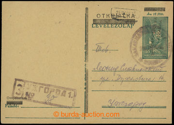 210482 - 1945 BEREHOVO / UŽHOROD přetisková dopisnice NRZU 40/18f tma