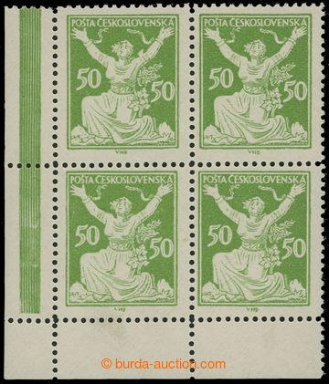 210645 -  Pof.156B, 50h zelená, levý dolní rohový 4-blok s ŘZ 13&#190