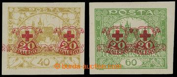 210668 -  Pof.170Nc, Hradčany 40h žlutá a 60h nezoubkované, obě zn. s