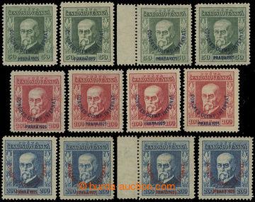 210673 - 1925 Pof.180-182, Kongres 50h - 200h, kompletní sestava dle